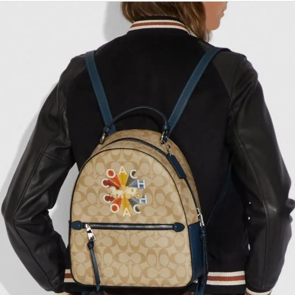 Coach Handbags - Coach Backpack in Signature Canvas